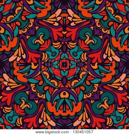 tribal ethnic bohemia fashion abstract indian, seamless wavy background.
