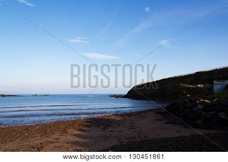 View From The Beach At Bude In Cornwall