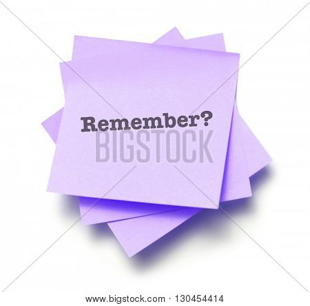 Remember written on a note