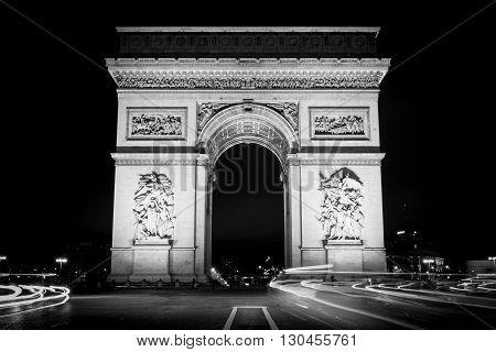 arc de triomphe long exposures paris landmark