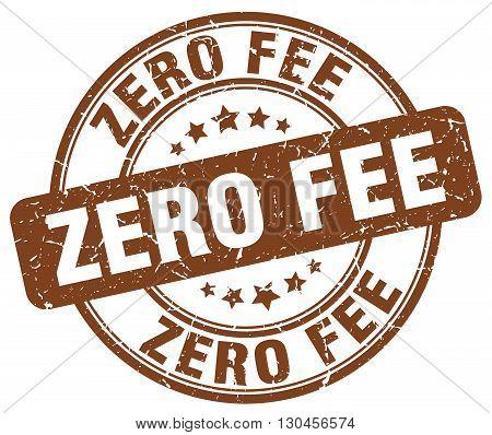 zero fee brown grunge round vintage rubber stamp