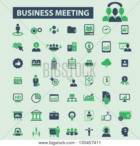 business meeting icons