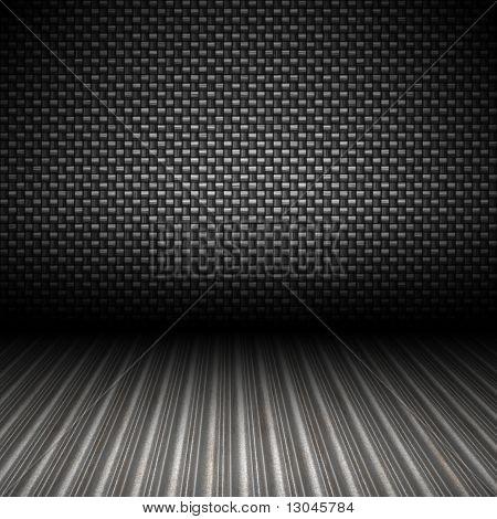 Telón de fondo metálico de fibra de carbono