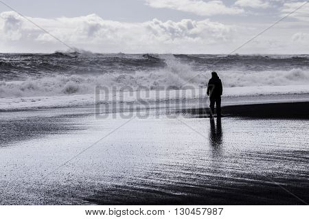 Iceland, beach, ocean, elements, dialogue, reflection, storm