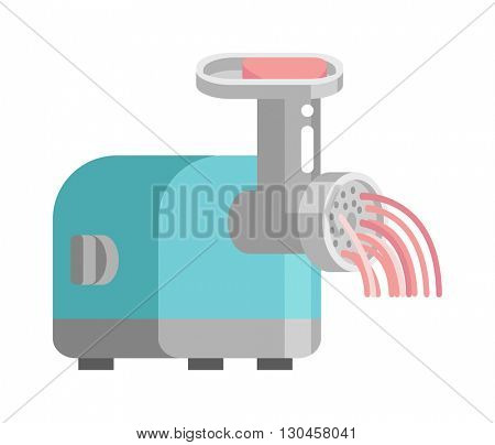 Meat grinder front view vector illustration.