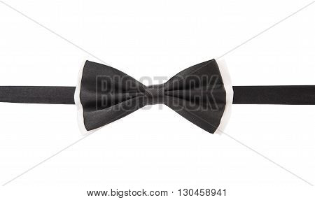 Black bow tie isolated on white background. Clipping path