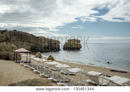 Praia Sao Rafael in Algarve in Portugal