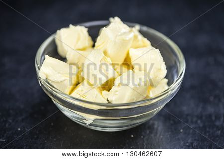 Butter On A Slate Slab (selective Focus)
