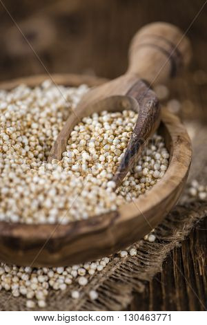 Pile Of Puffed Quinoa (selective Focus)