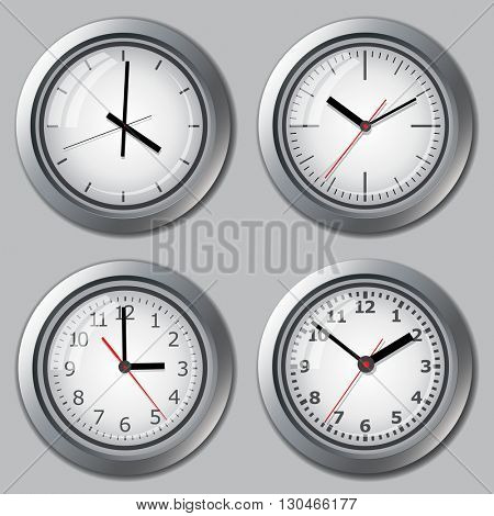 Several variants of watch dials.