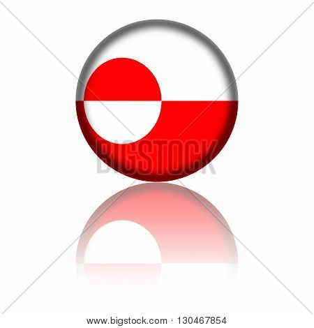 Greenland Flag Sphere
