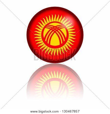 Kyrgyzstan Flag Sphere