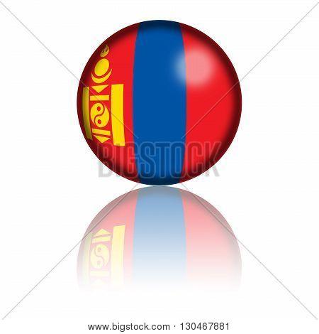 Mongolia Flag Sphere