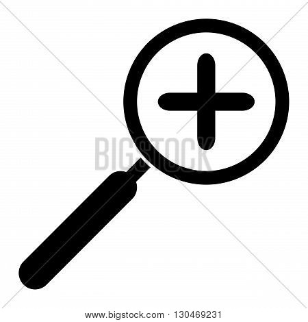 Zoom in icon. Magnifying glass symbol. Isolated on white background
