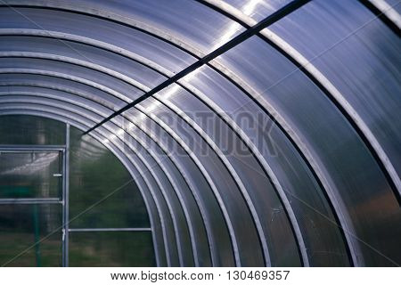 The polycarbonate greenhouse for growing fruits and vegetables
