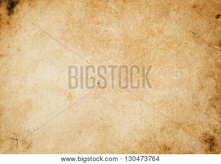 Grunge paper background. Natural old dirty paper texture for the design.