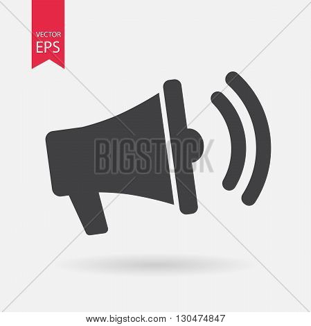 Loudspeaker Icon Vector. Flat design. Loudspeaker note sign isolated on white background