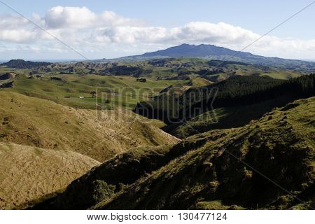 Looking down valley in New Zealand