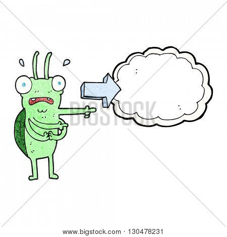 freehand textured cartoon bug pointing