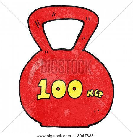 freehand textured cartoon 10kg kettle bell weight