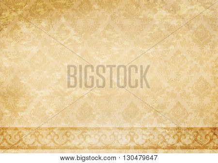 Old ornamental paper background for the design.