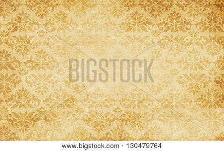 Old paper background with vintage patterns for the design. Natural old paper texture.