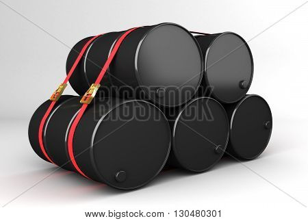 barrels of natural resources ready for dispatch