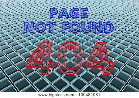 3D illustration Page not found, error 404
