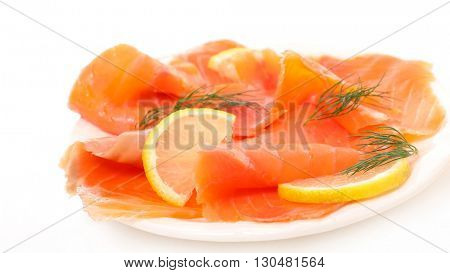smoked salmon and dill
