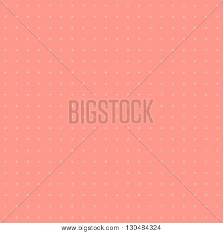 Polka dot pattern. Dots on pink background.