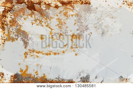 Empty Rusted Metal Sheet Background Texture