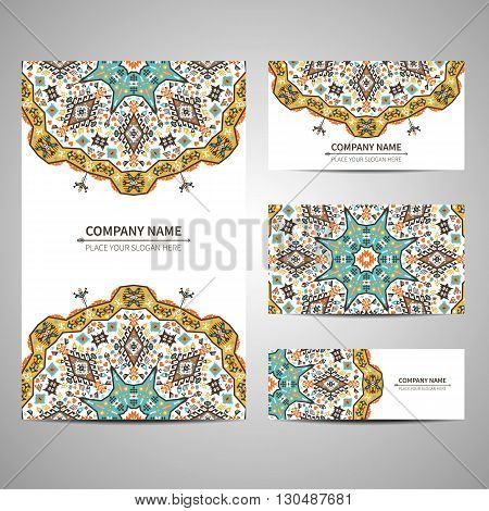 Business bright card template. Vector illustration in native style