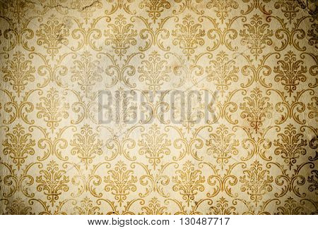 Old dirty paper background with vintage patterns. Natural old paper texture.