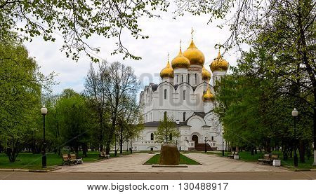 Assumption cathedral at Yaroslavl in summer. Russia