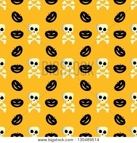 Halloween Pattern for fabric, wrapping paper,etc. Print colors used. Pattern is to be found in swatches.