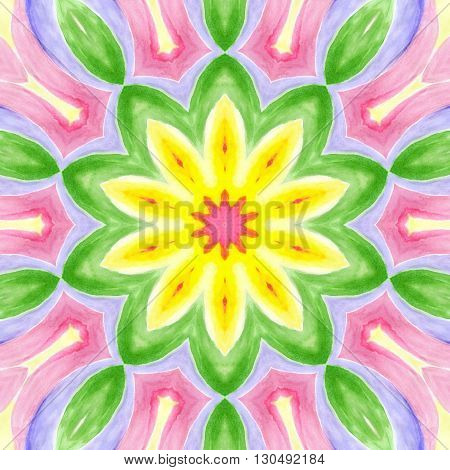 Bright background with abstract watercolor concentric pattern