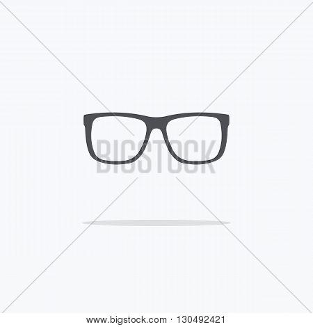 Rim glasses. Icon spectacles. Vector illustration on light background ..