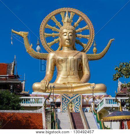 Big Buddha statue on Koh Samui Thailand