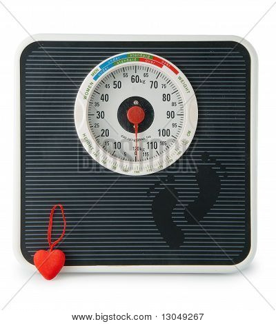 The scale with  heart