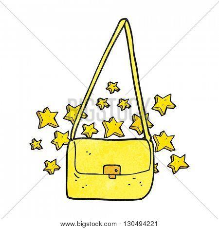 freehand textured cartoon expensive handbag