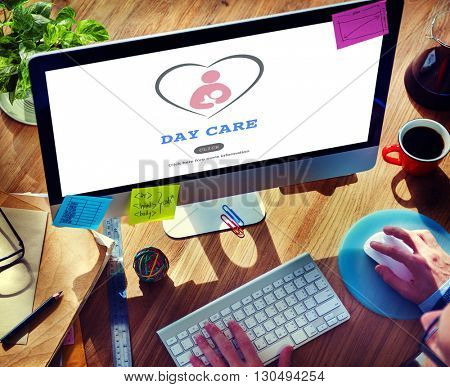 Day Care Babysitter Nanny Nursery Love Motherhood Concept