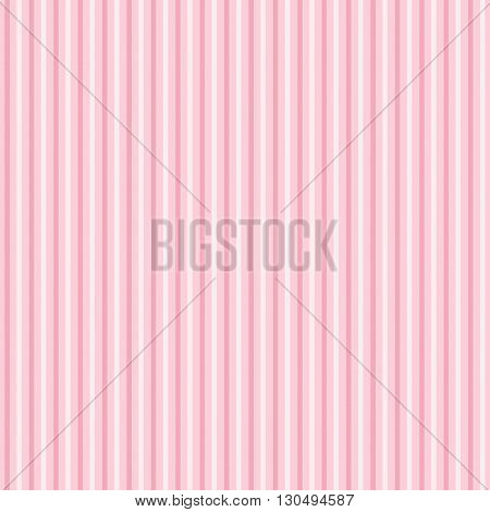Pink stripes pattern. Vector background in pastel tones.