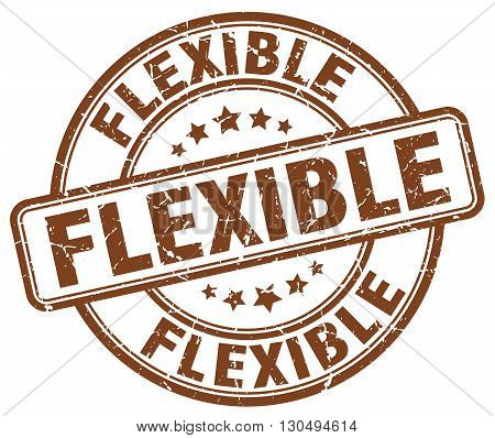 flexible brown grunge round vintage rubber stamp