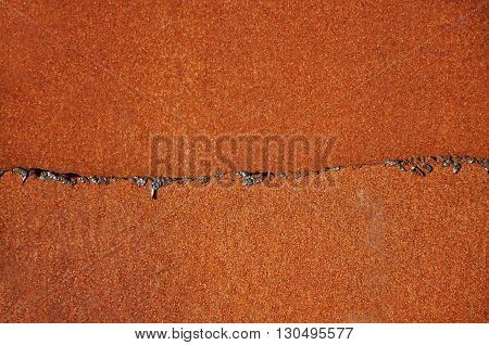 Colorful and crisp image of background rusty metal