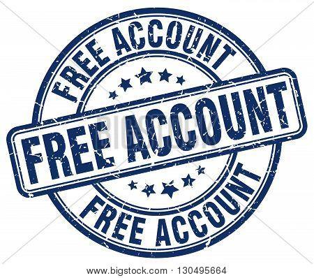 free account blue grunge round vintage rubber stamp
