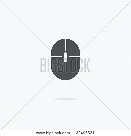 Computer mouse. Icon of computer mouse. Vector illustration on a light background.
