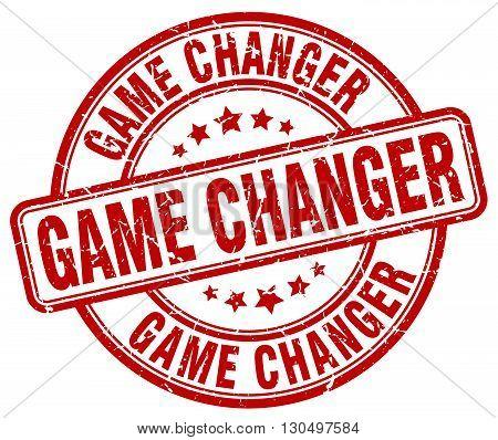 game changer red grunge round vintage rubber stamp