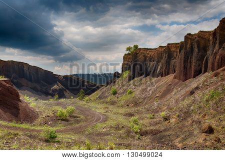 Volcanic Crater Wall In Racos, Brasov County, Romania.