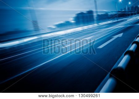 car trails on highway,chongqing china.