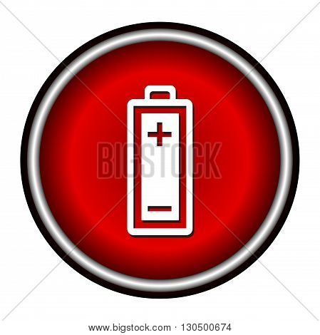 Battery icon, vector illustration, flat design on white background.